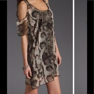 Lovers + Friends Sheer Snakeskin Top Size Small